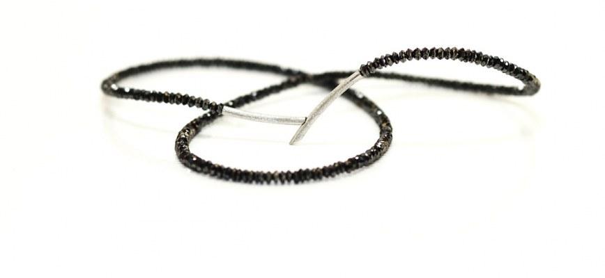 ECHELMEYER - COLLIER © schwarze Diamanten mit 750/- Weißgold